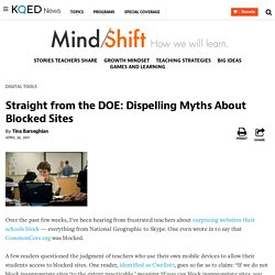 Straight from the DOE: Dispelling Myths About Blocked Sites