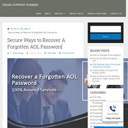 3 Straight-Forward Methods to Recover AOL Password