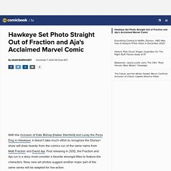 Hawkeye Set Photo Straight Out of Fraction and Aja's Acclaimed Marvel Comic