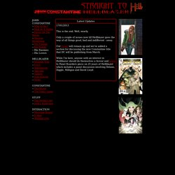 Straight To Hell : A Hellblazer Site