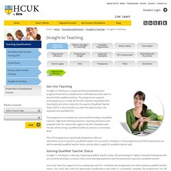 Straight to Teaching - HCUKONLINE