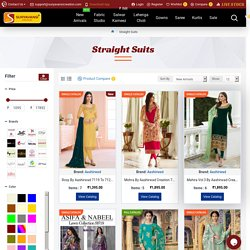 Straight Cut Salwar Suits : Buy Stylish Straight Salwar Kameez and Suits Online India, USA and Canada at Wholesale Price
