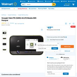 Straight Talk ZTE Z289G 4G LTE Mobile Wifi Hotspot