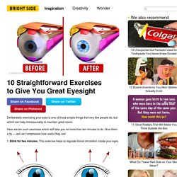 10 Straightforward Exercises to Give You Great Eyesight