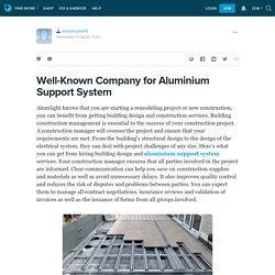 Well-Known Company for Aluminium Support System