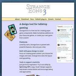 Strange Eons: disseny de cartes
