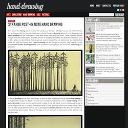 Strange Post-in Note Hand Drawing | Hand Drawing Art Pictures and Ideas