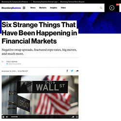 Five Strange Things That Have Been Happening in Financial Markets