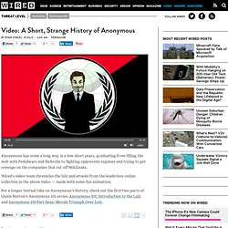 Video: A Short, Strange History of Anonymous | Threat Level