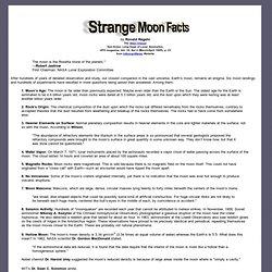 Strange Moon Facts