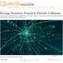 Strange Numbers Found in Particle Collisions
