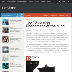Top 10 Strange Phenomena of the Mind - Top 10 Lists | Listverse