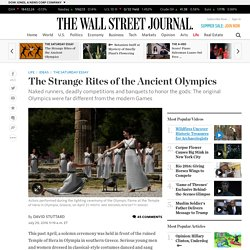The Strange Rites of the Ancient Olympics