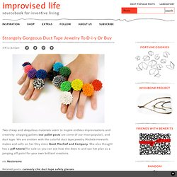 strangely gorgeous duct tape jewelry to d-i-y or buy