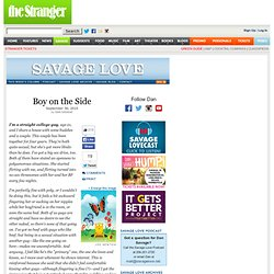 Savage Love by Dan Savage - Columns - Savage Love - Dan Savage