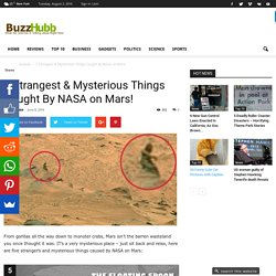 5 Strangest & Mysterious Things Caught By NASA on Mars! - Buzz Hubb