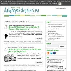 Italiano per Stranieri » testi semplificati italiano.