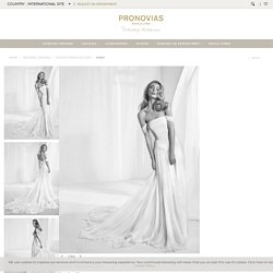 Strapless wedding dress with detachable cap sleeves - Rabat - Pronovias