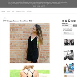DIY Strappy Summer Dress From Tshirt
