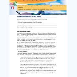 Evaluation par compétence - Le socle commun