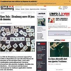 OpenData: Strasbourg ouvre 64 jeux de données