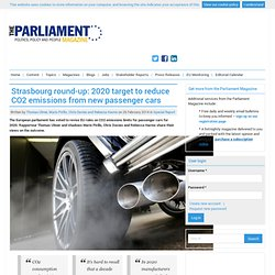 Strasbourg round-up: 2020 target to reduce CO2 emissions from new passenger cars