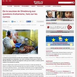 PUBLIC SENAT 28/01/13 De la saucisse de Strasbourg aux questions d'urbanisme, haro sur les normes