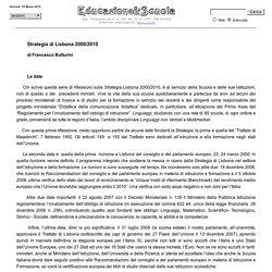 Strategia Lisbona 2000/2010