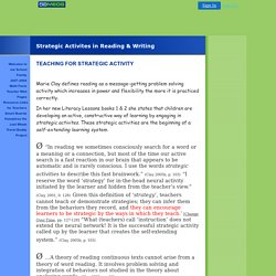 Strategic Activites in Reading & Writing