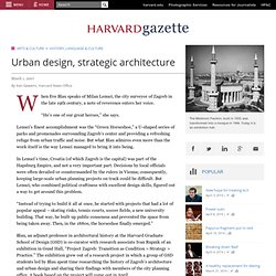 Urban design, strategic architecture