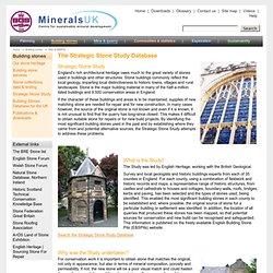 Strategic Stone Study & Building Stone Quarries