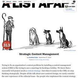 Strategic Content Management
