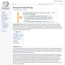 brief strategic family therapy Intervention basics the brief strategic family therapy (bsft) is designed to.