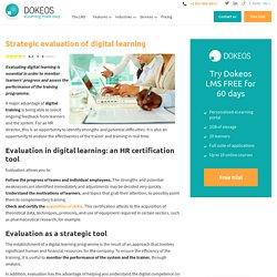 La stratégique évaluation des formations en digital ...
