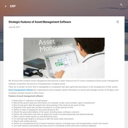 Effective asset management software by Erpisto