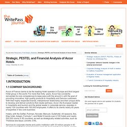 Strategic, PESTEL and Financial Analysis of Accor Hotels