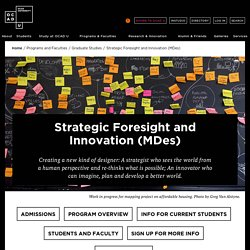 Strategic Foresight and Innovation (MDes) - Programs - Graduate Studies - Academics - OCAD U