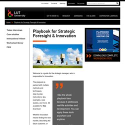 Playbook for Strategic Foresight & Innovation - LUT
