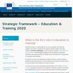 Cadre stratégique – Éducation et formation 2020