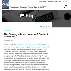 The Strategic Investments of Content Providers
