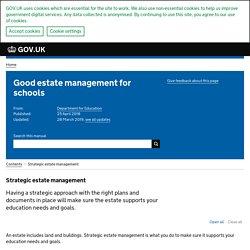 Strategic estate management - Good estate management for schools - Guidance