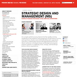 If you were a Design and Management major, your portfolio might have a business plan for an app, portfolio materials based on an internship, or a marketing proposal with numbers and social media projections. The Strategic Design and Management School is a school within Parsons that houses the Design and Management and Integrated Design majors.