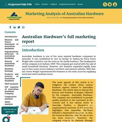 Australian Hardware Ltd: History and Services