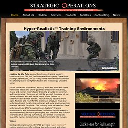 Strategic Operations Hyper-Realistic Tactical Training San Diego