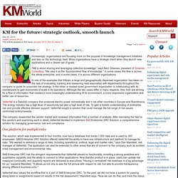 KM for the future: strategic outlook, smooth launch