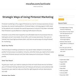 Strategic Ways of Using Pinterest Marketing