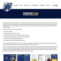 Strategic Plan – BC Rugby
