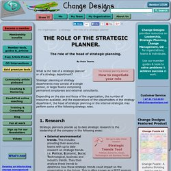 The role of a strategic planner. Head of strategic planning.