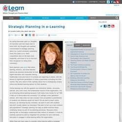 Strategic Planning in e-Learning