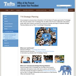 T10 Strategic Planning - Office of the Provost and Senior Vice President